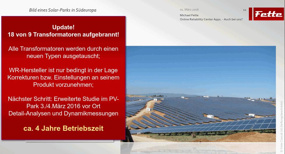 Update Solarpark