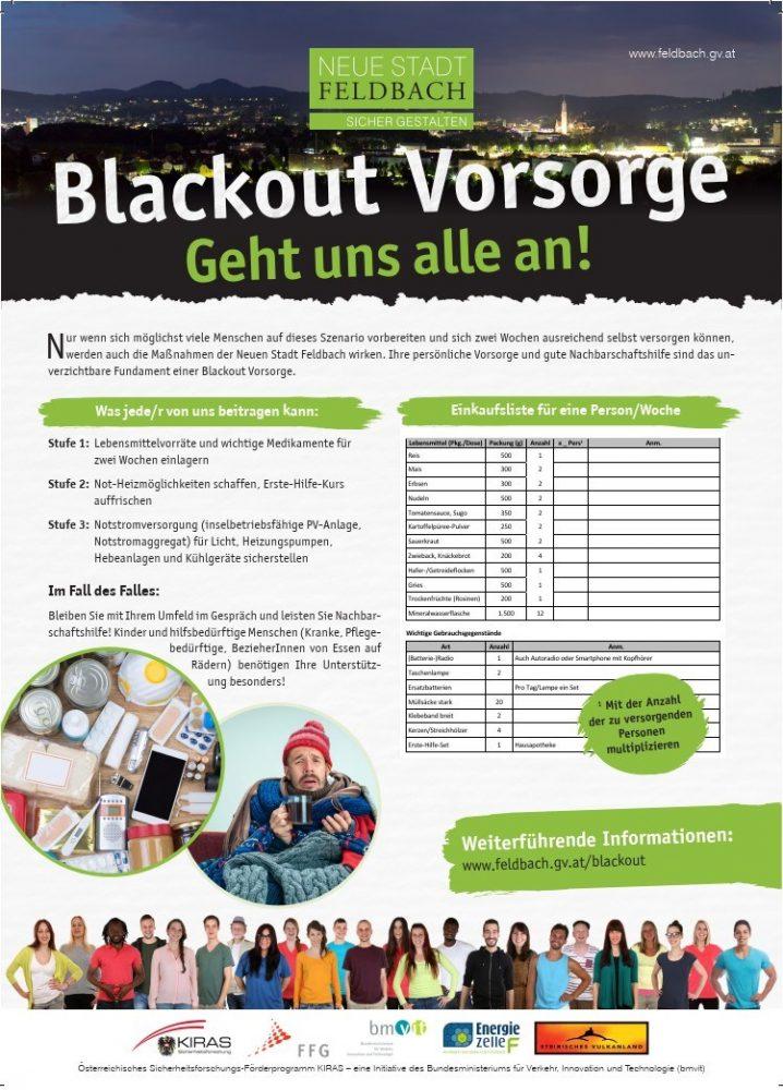 Blackout-Vorsorge geht uns alle an - privat