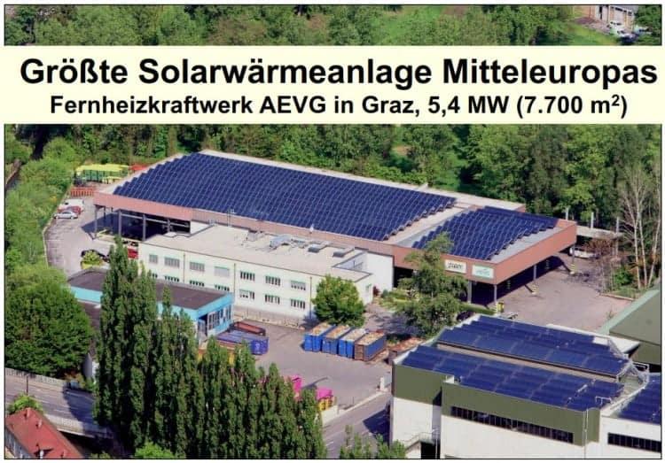Größte Solarwärmeanlage Mitteleuropas